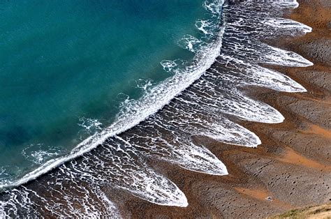 wave pattern of organization mysterious beach patterns that scientists can t explain