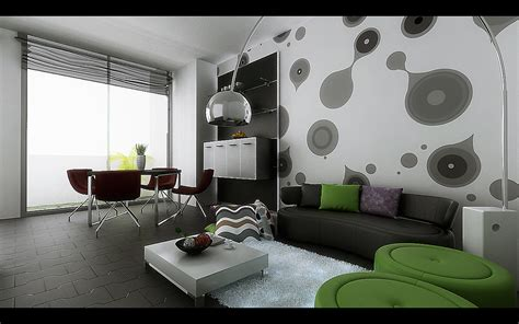 Funky Living Room Wall Living Dining Inspiration