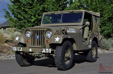 Korean War Jeep 1952 Willys Army Jeep 1st Generation Early
