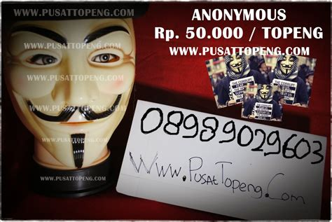 Jual The Shop Ready Stock toko topeng anonymous v for vendetta murah jakarta