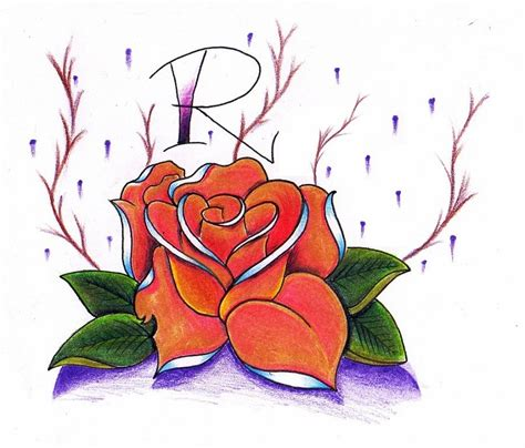 эскизы тату роза