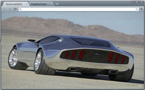 theme google chrome ford mustang ford mustang concep sports cars chrome theme themebeta