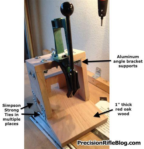 portable reloading bench plans portable reloading press plans precisionrifleblog com