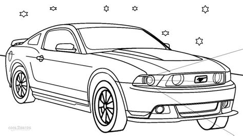 coloring sheets mustang cars printable mustang coloring pages for cool2bkids