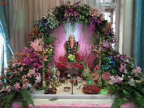 flower decoration in home ganpati mandap decoration with flowers www pixshark com