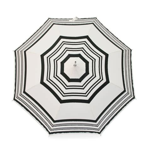 Umbrella Creme pagoda umbrella with black stripes by molly marais