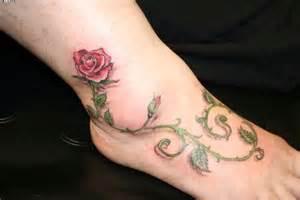 3d rose vine tattoo for foot tattoobite com