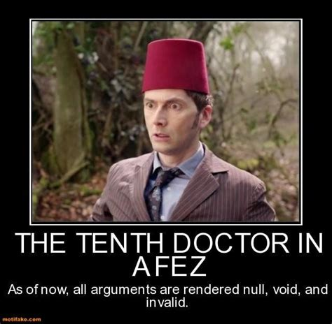 david tennant fez demotivational poster the tenth doctor in a fez doc