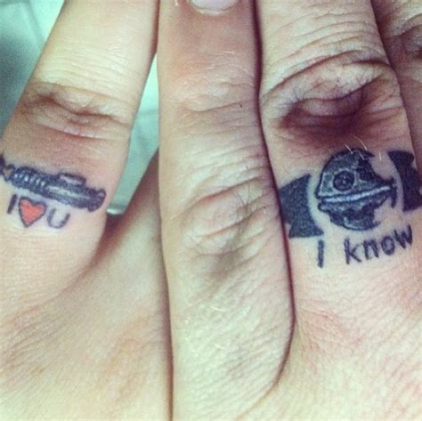 20 adorable wedding ring tattoos our love will endor guff