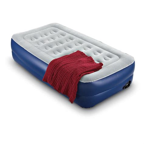 twin size  rise air bed  electric pump