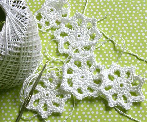 snowflake patterns crochet easy crochet snowflake pattern yarn craft crochet knit
