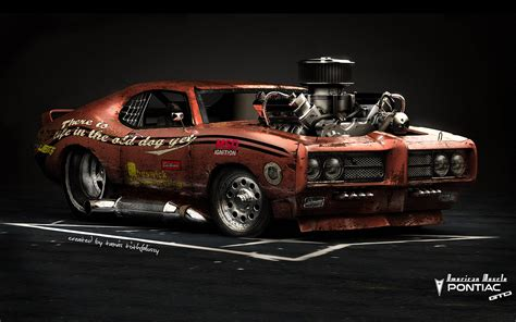 pontiac gto american muscle hot rod rods classic engine