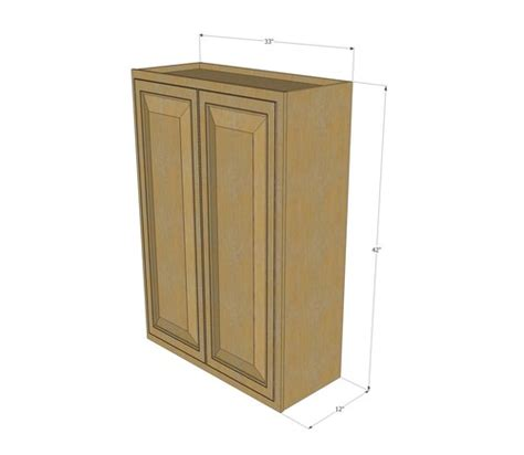 42 inch kitchen wall cabinets large double door regal oak wall cabinet 33 inch wide x