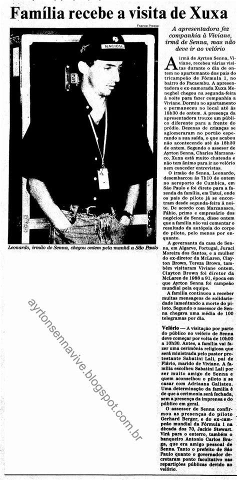 Ayrton Senna: Família Senna Recebe Visita de Xuxa Antes do