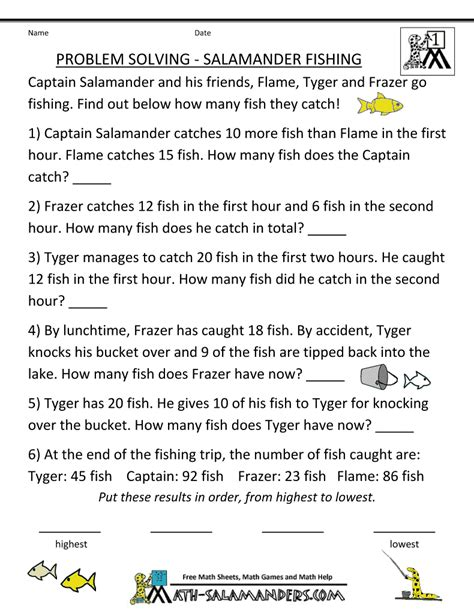 Grade 4 Math Problem Solving Worksheets by Math Problem Solving Worksheets Grade 4 Math Best Free