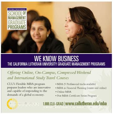 Mba California Lutheran by Businesslife California Lutheran Mba