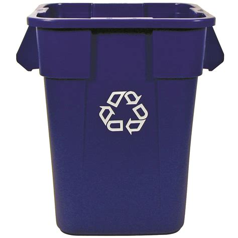 trash storage containers buy brute 40 gallon square recycling containers