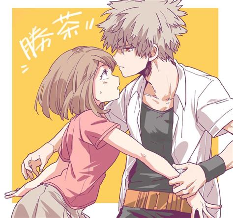my hero academia 7 8491461426 boku no hero academia uraraka ochako katsuki bakugou anime ver animes y me