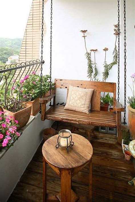 balcony swings 26 tiny furniture ideas for your small balcony amazing