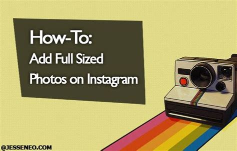 How To Make Money By Posting Photos Online - how to add full sized photos on instagram