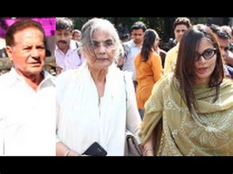 film actress nanda funeral funeral of bollywood actress nanda salim khan