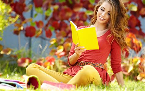 wallpaper girl happy reading girl happy awesome