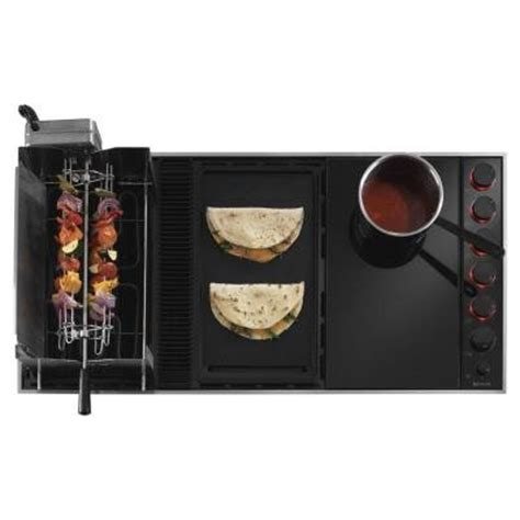 Modular Cooktop Electric jenn air 43 inch modular electric downdraft cooktop with variable speed ventilation fan