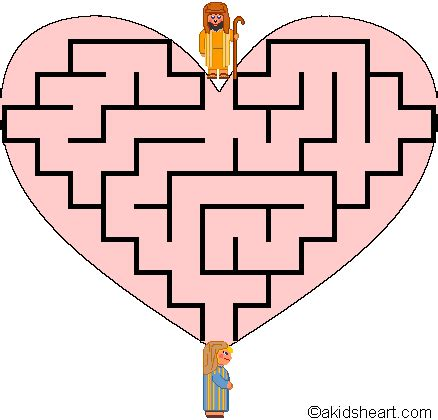 printable heart maze valentine maze