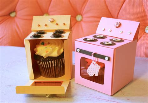 How To Make A Paper Oven - oven cupcake box made by marzipan
