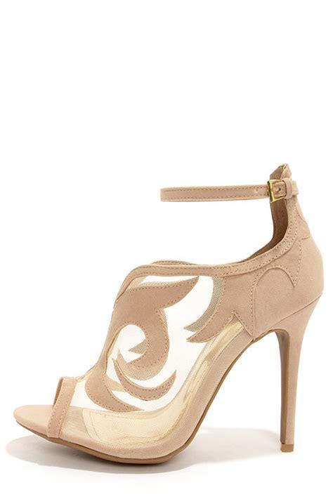 Heels Beige beige heels ankle heels peep toe heels 34 00