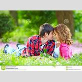Royalty Free Stock Photos: Beautiful young couple in love in spring ...