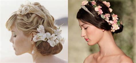fiori per acconciature sposa acconciature floreali per la sposa primavera 2016 it
