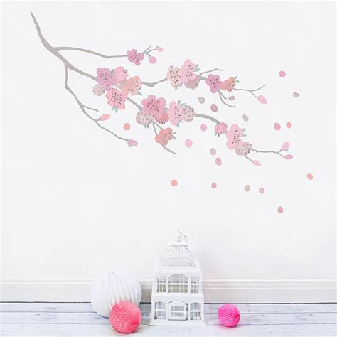 wall stickers cherry blossom cherry blossom branch wall sticker koko