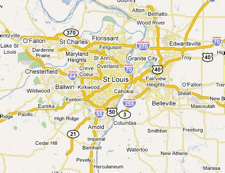 map of st louis mo map of st louis area my