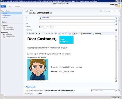 stunning rich html e mails with dynamics crm 2011