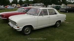 1967 Opel Kadett Opel 1967 Kadett B 4door Sedan The History Of Cars