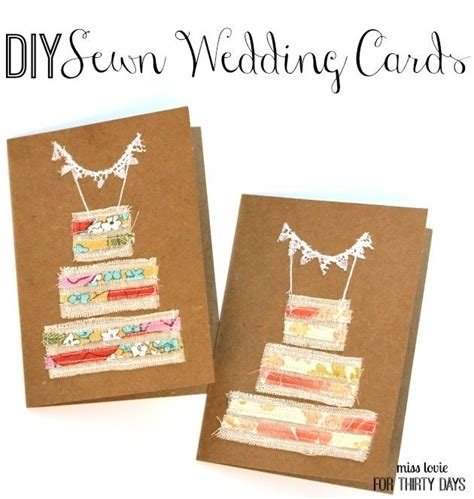 Diy Handmade Cards - diy sewn wedding cards