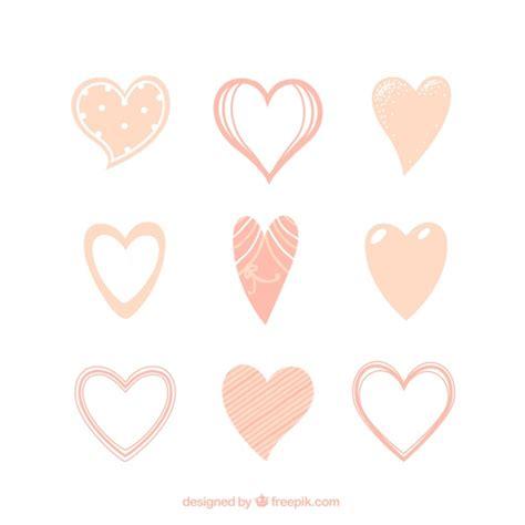 fondo de corazones vintage descargar vectores gratis colecci 243 n de corazones vintage dibujados a mano