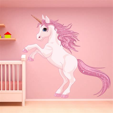wall decal girl bedroom unicorn wall sticker fantasy fairy tale wall decal girls bedroom nursery decor ebay
