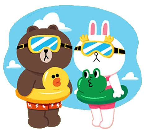Roundhand Gratis Bb Line Friend brown and cony swimming day brown and cony brown and illustrations