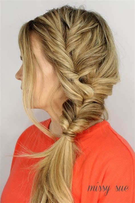 fishtail braid on the side fishtail summer side faux fishtail side braid hair braids