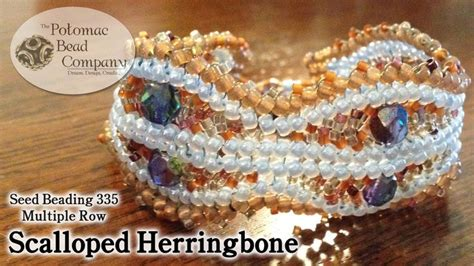 beading herringbone ndebele stitch on pinterest 128 pins multiple row scalloped herringbone stitch video jewelry