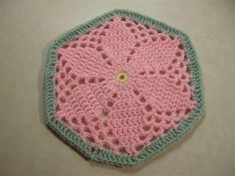 pattern crochet hexagon scrap yarn crochet july 2011