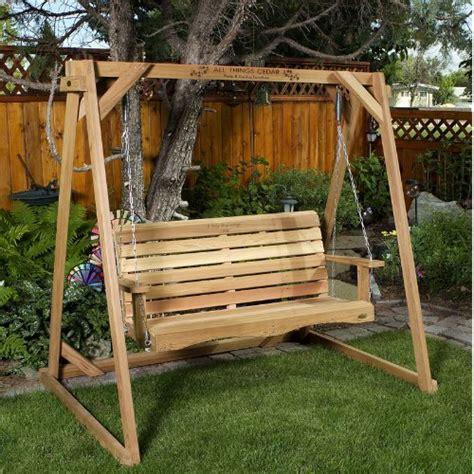 buy outdoor swing 9 gt best price cedar swing a frame w 5ft swing outdoor