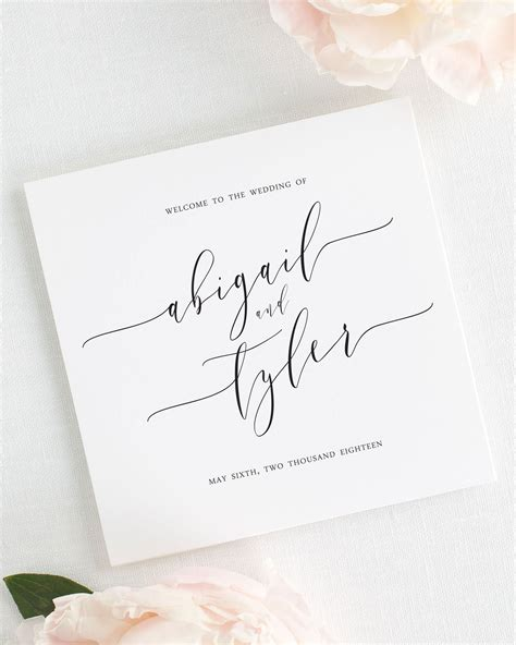 Wedding Invitations Calligraphy by Calligraphy Wedding Programs Wedding Programs
