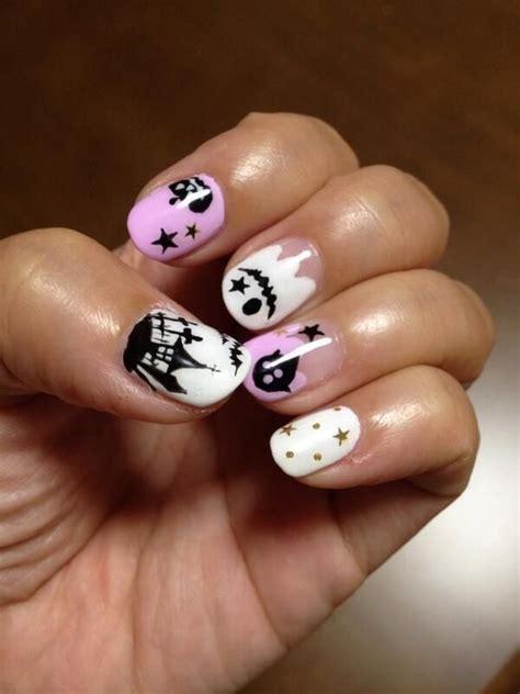 super cute brown bear pattern fake nails japanese pure easy halloween nail art designs