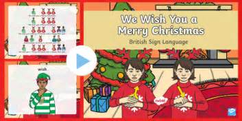 bsl     merry christmas powerpoint bsl christmas resources