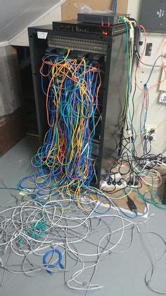 messy cable closets server rooms images cable