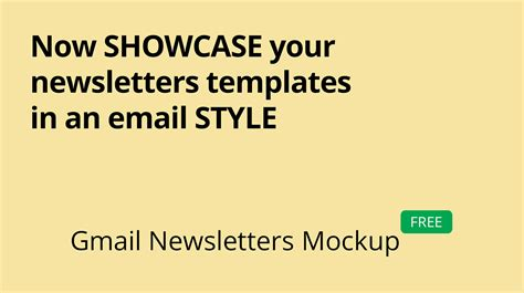 gmail newsletter mockup on behance