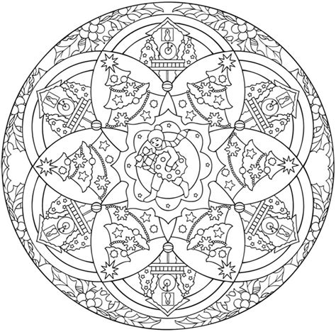coloring pages christmas mandala welcome to dover publications